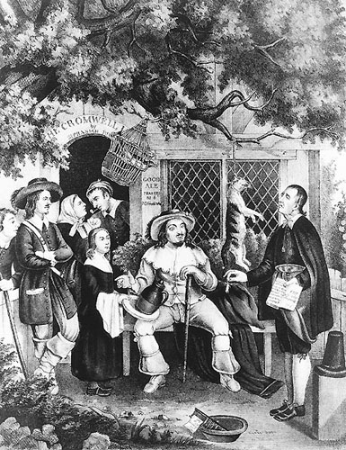Satirical Illustration of Puritans